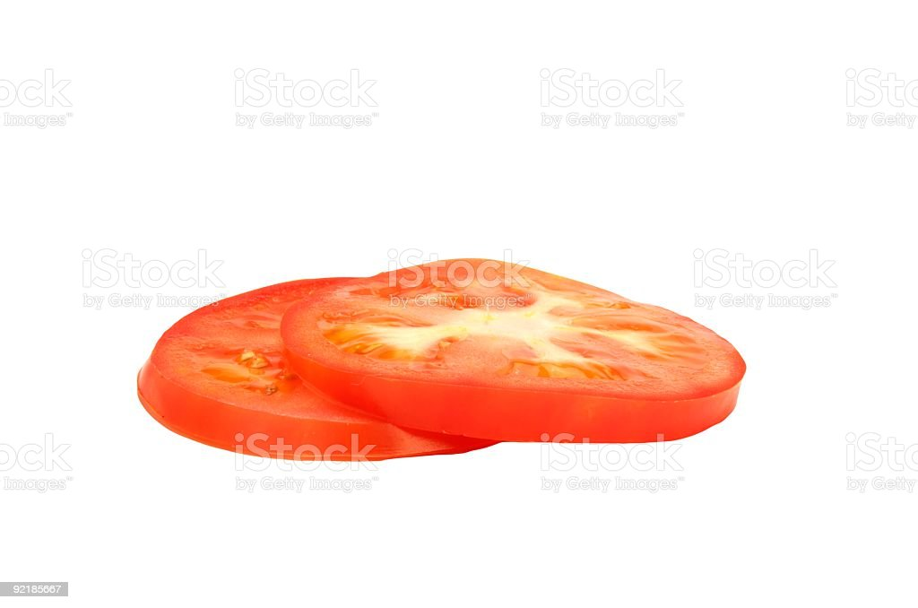 Fresh Tomato Slices stock photo