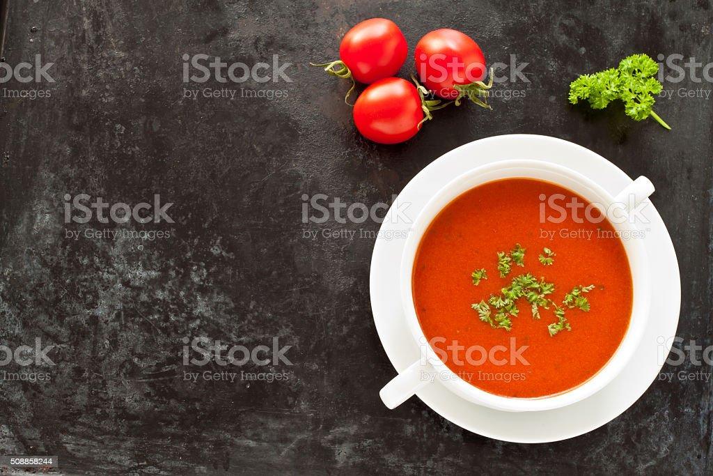 Fresh tomato soup stock photo