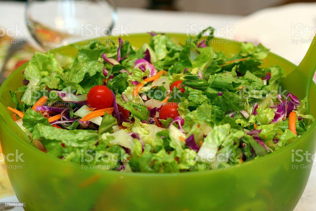 Fresh Tossed Salad royalty-free stock photo