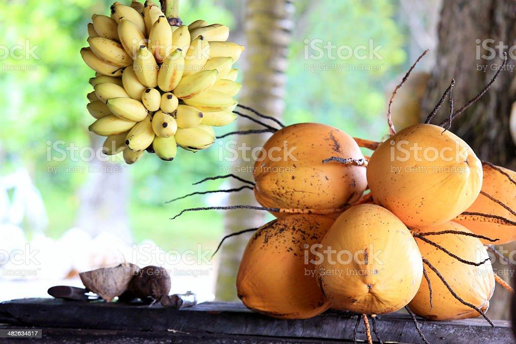 Fresh tropical fruit stock photo