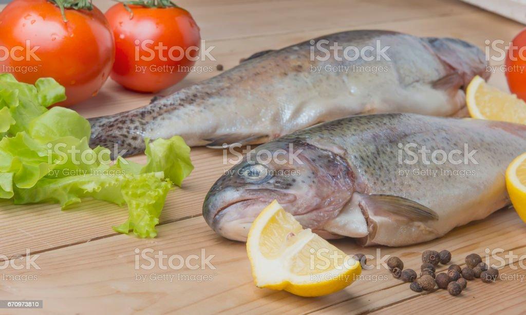Fresh trout stock photo