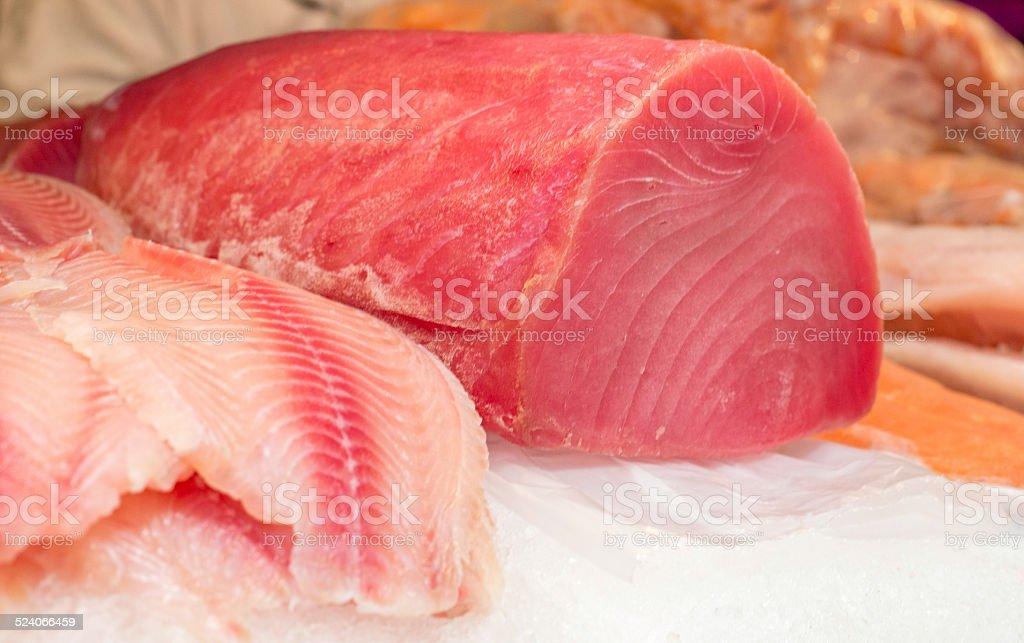 Fresh Tuna Chunk stock photo