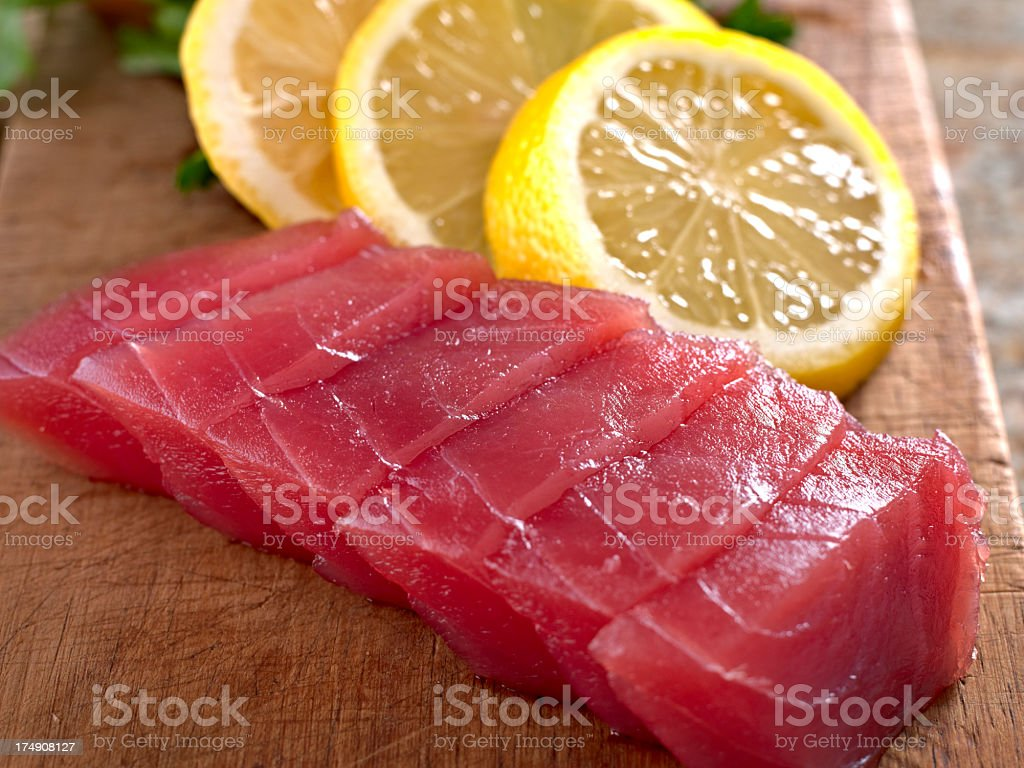 Fresh Tuna Sashimi. royalty-free stock photo