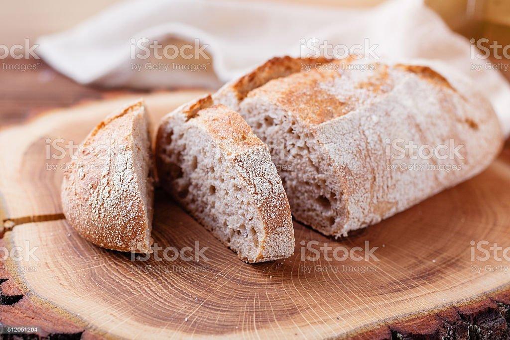 Fresh unleavened bread with bran stock photo