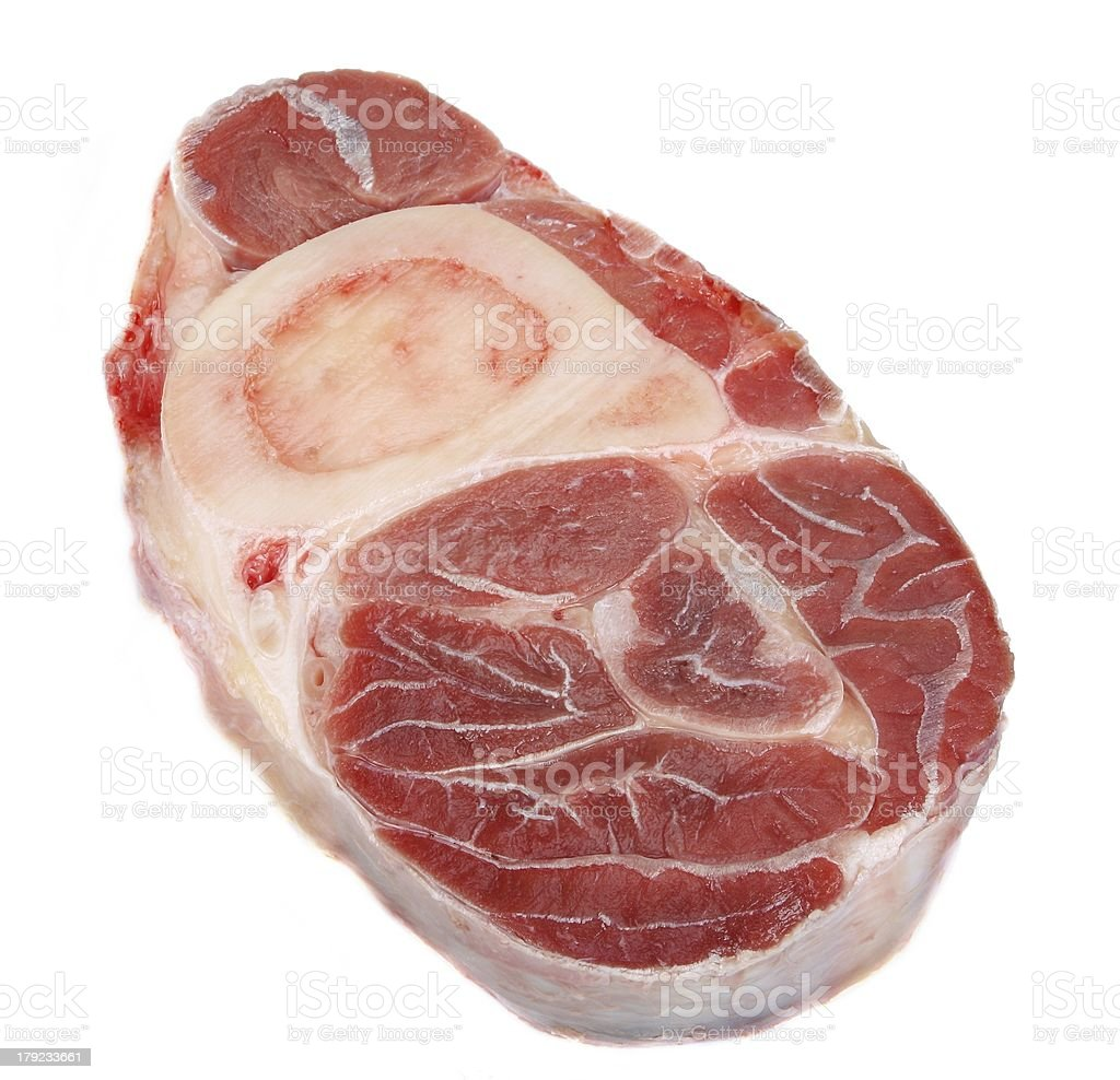 Fresh veal shank isolated royalty-free stock photo