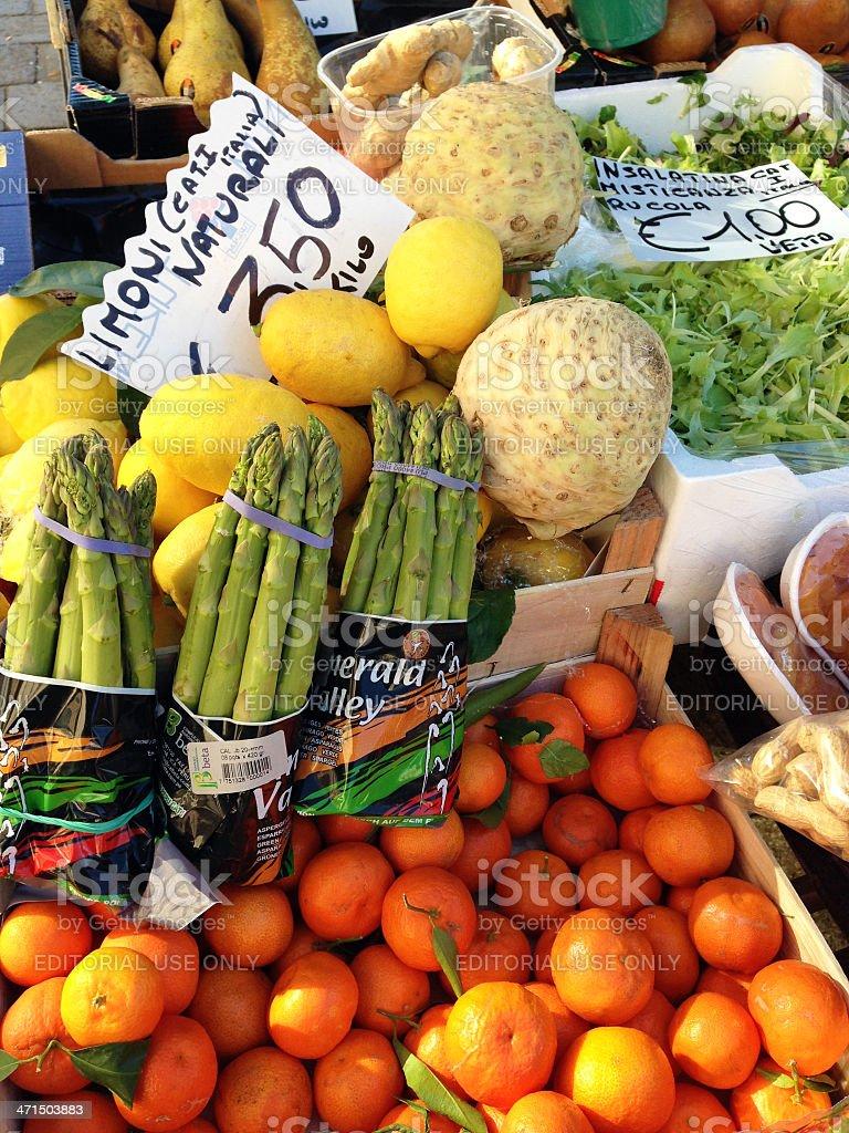Fresh Vegetable and Fruit at Venetian Market Europe royalty-free stock photo