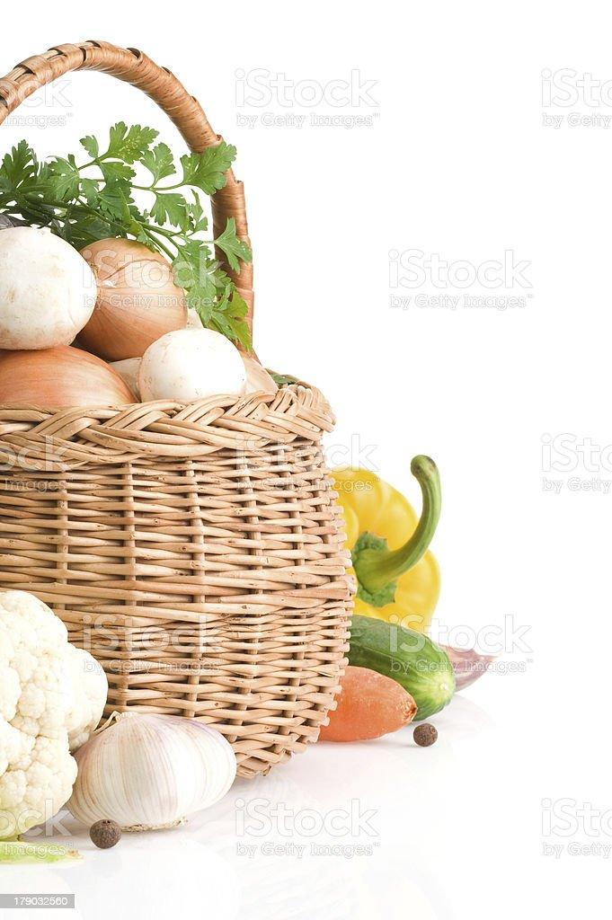fresh vegetable food on white royalty-free stock photo