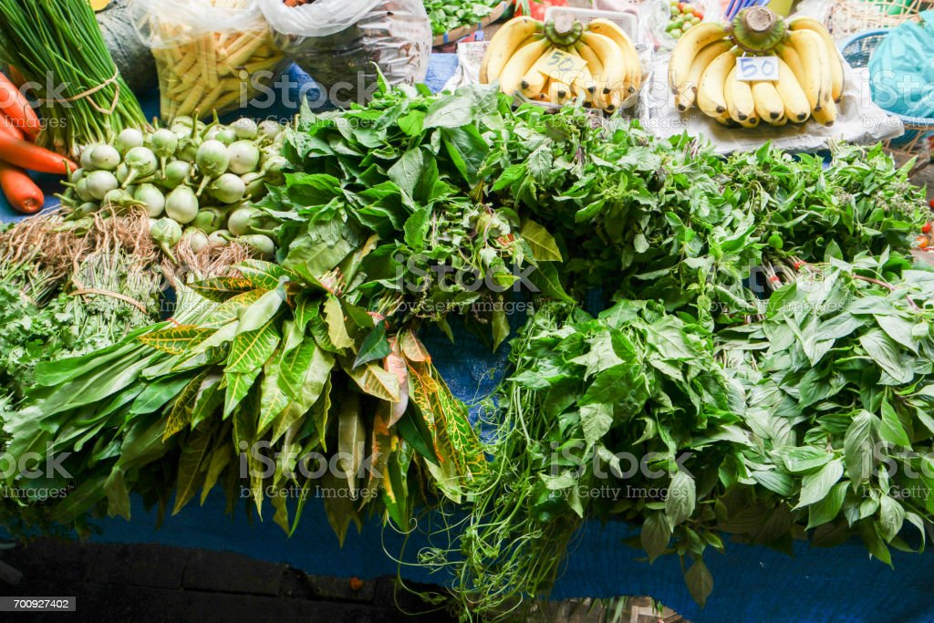 Fresh vegetable for sale in street market. stock photo