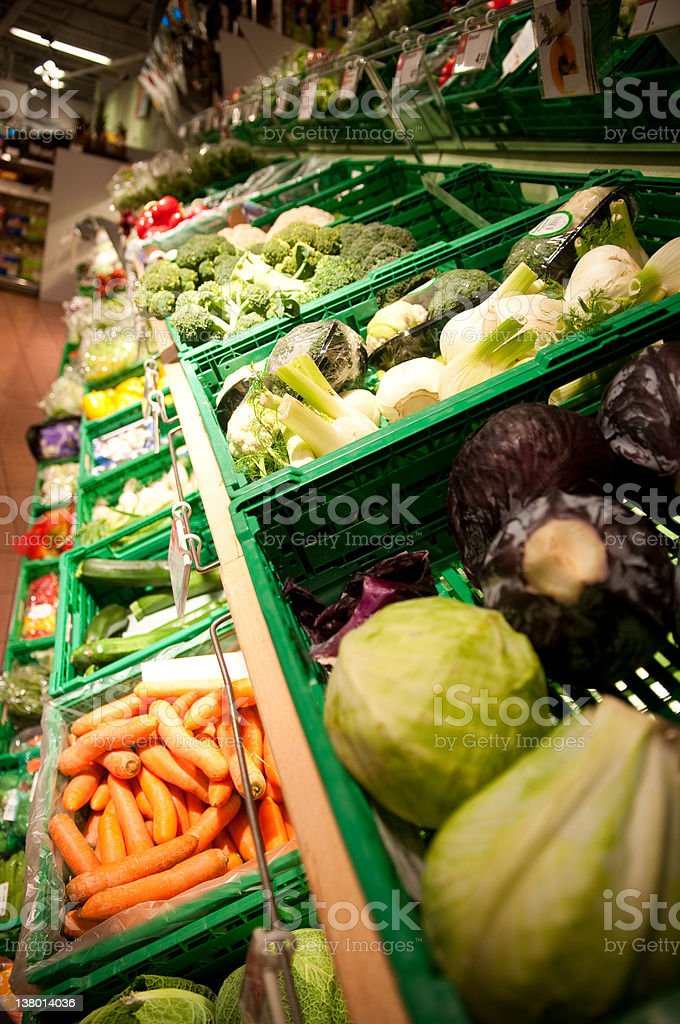 fresh vegetable in a super market royalty-free stock photo