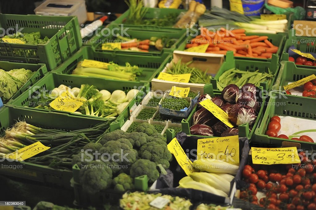 fresh vegetable in shop royalty-free stock photo