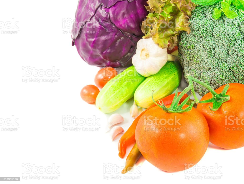fresh vegetable isolated on a white background stock photo