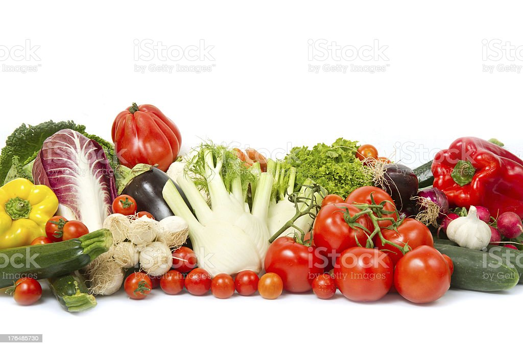 fresh vegetable isolated on white background royalty-free stock photo