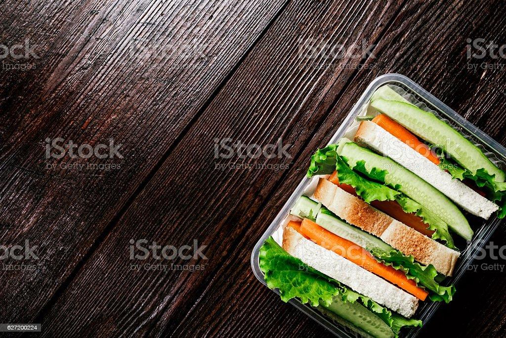 Fresh vegetable lunch stock photo