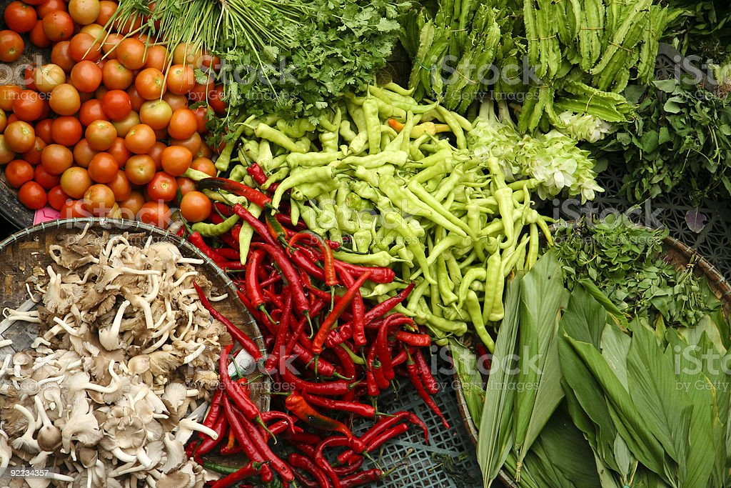 fresh vegetable market stock photo