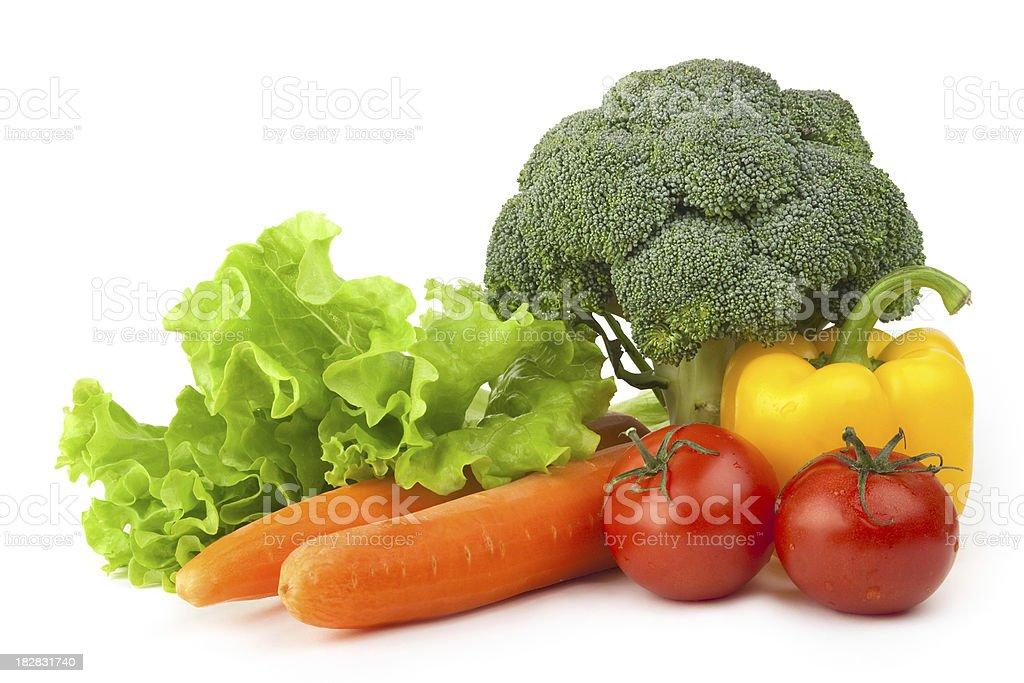 Fresh vegetable mix royalty-free stock photo