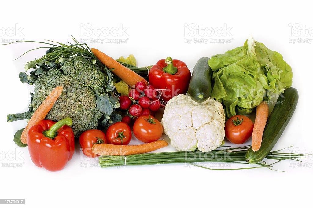 Fresh vegetable on white background royalty-free stock photo