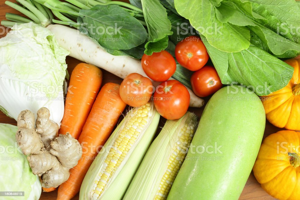 fresh vegetable prepare royalty-free stock photo