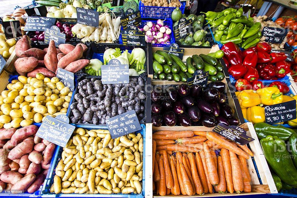 Fresh vegetable produce royalty-free stock photo