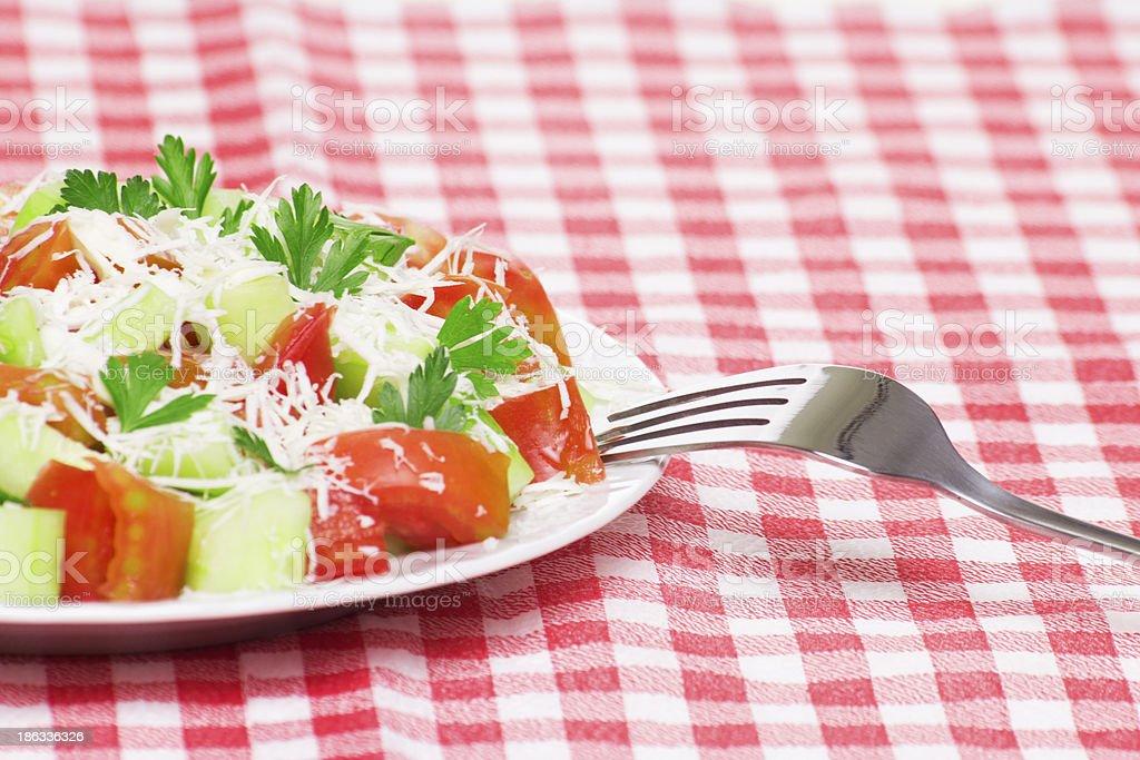 Fresh vegetable salad royalty-free stock photo