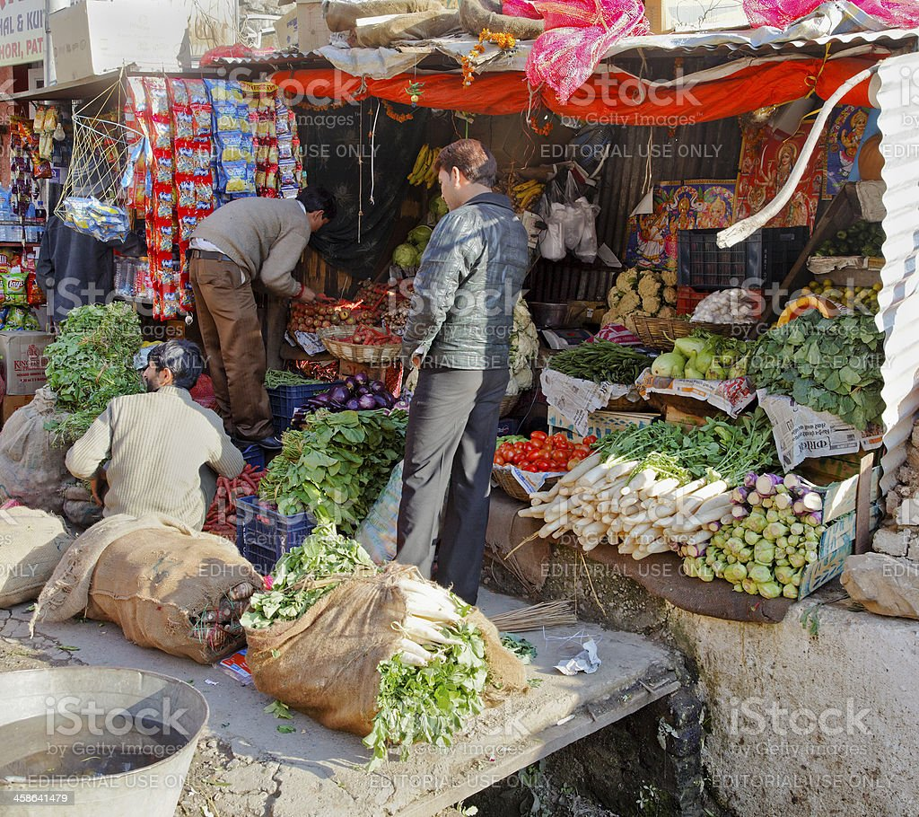Fresh vegetable stall Jammu Kashmir India stock photo