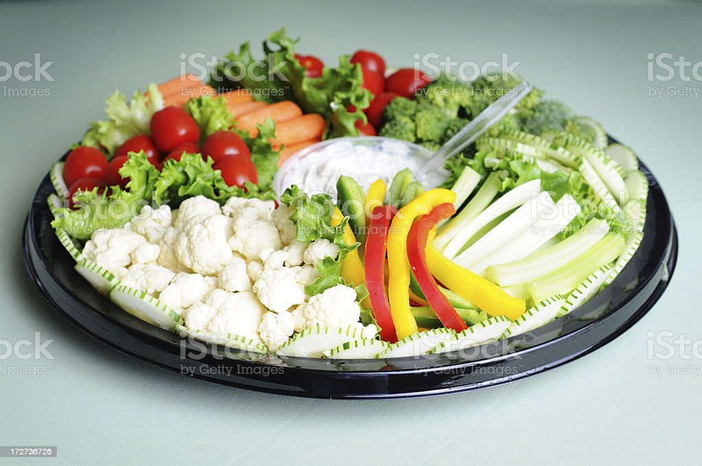Fresh Vegetable Tray royalty-free stock photo
