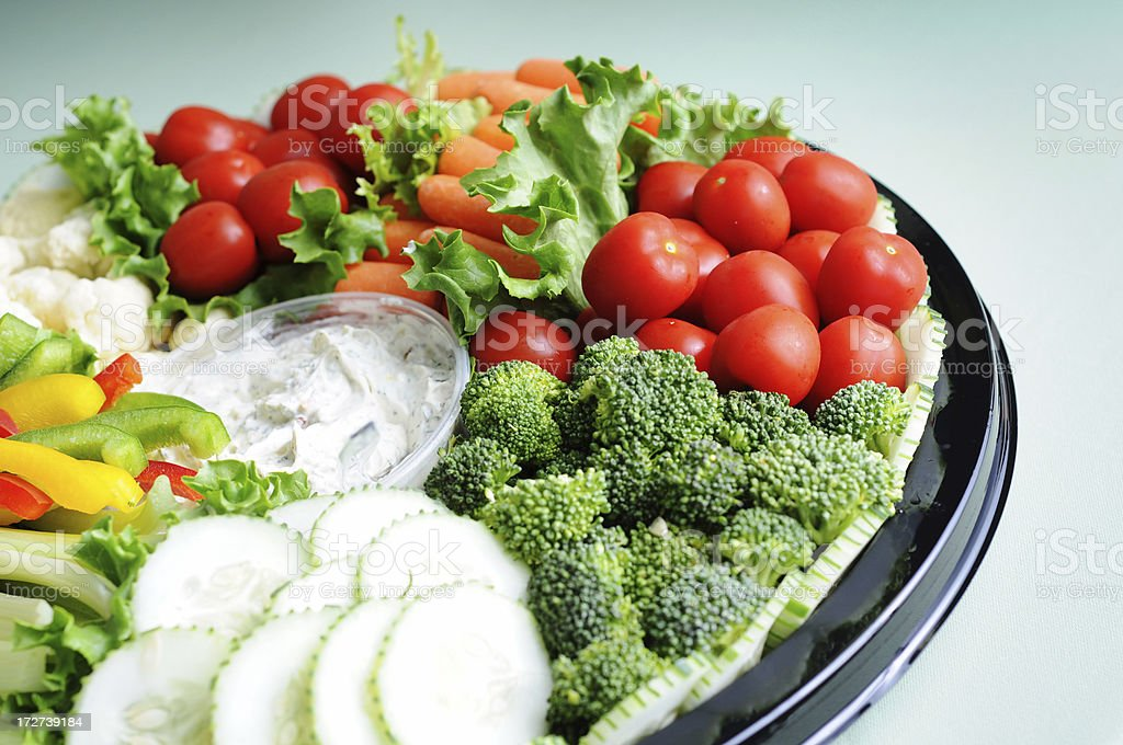 Fresh Vegetable Tray royalty-free stock photo