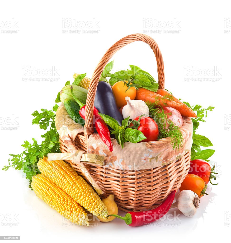 fresh vegetable with leaves royalty-free stock photo