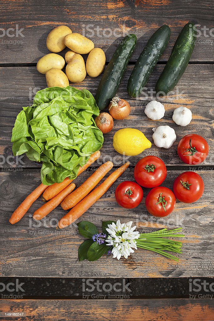 fresh vegetables and fruit royalty-free stock photo