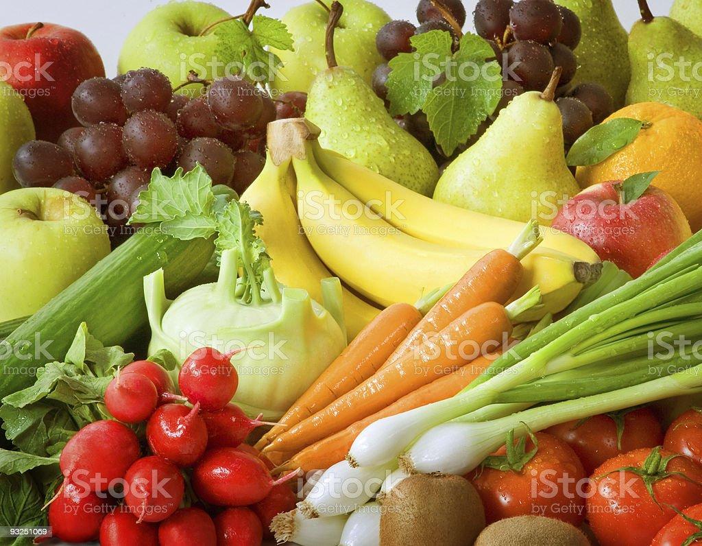 Свежие овощи и фрукты Стоковые фото Стоковая фотография