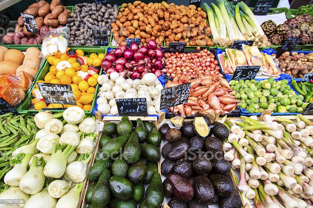 Fresh Vegetables at market royalty-free stock photo