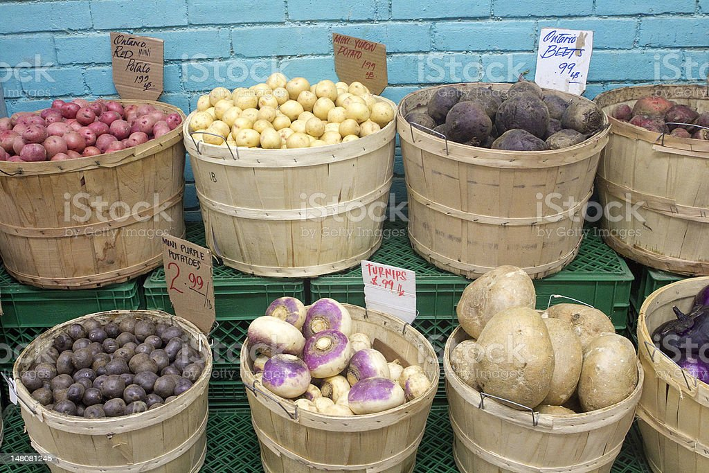 Fresh Vegetables at the Market royalty-free stock photo