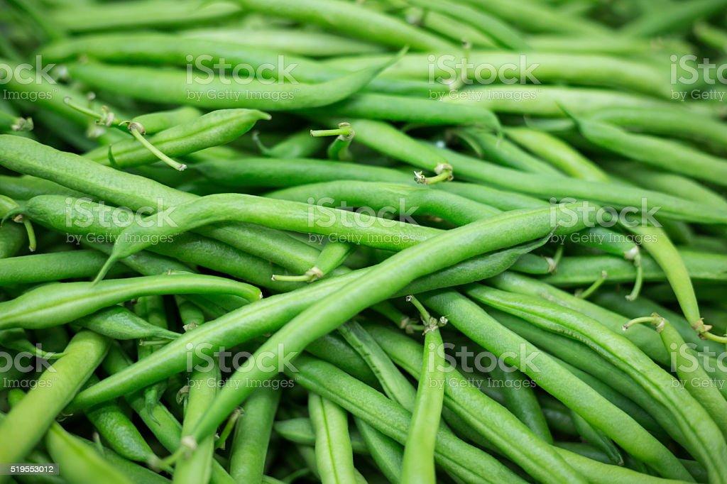 fresh vegetables - beans stock photo