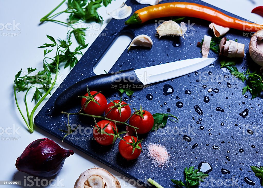 fresh vegetables for a healthy diet stock photo