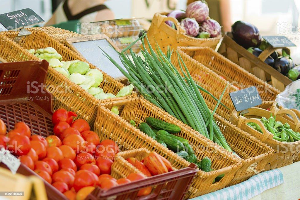 Fresh vegetables for sale stock photo
