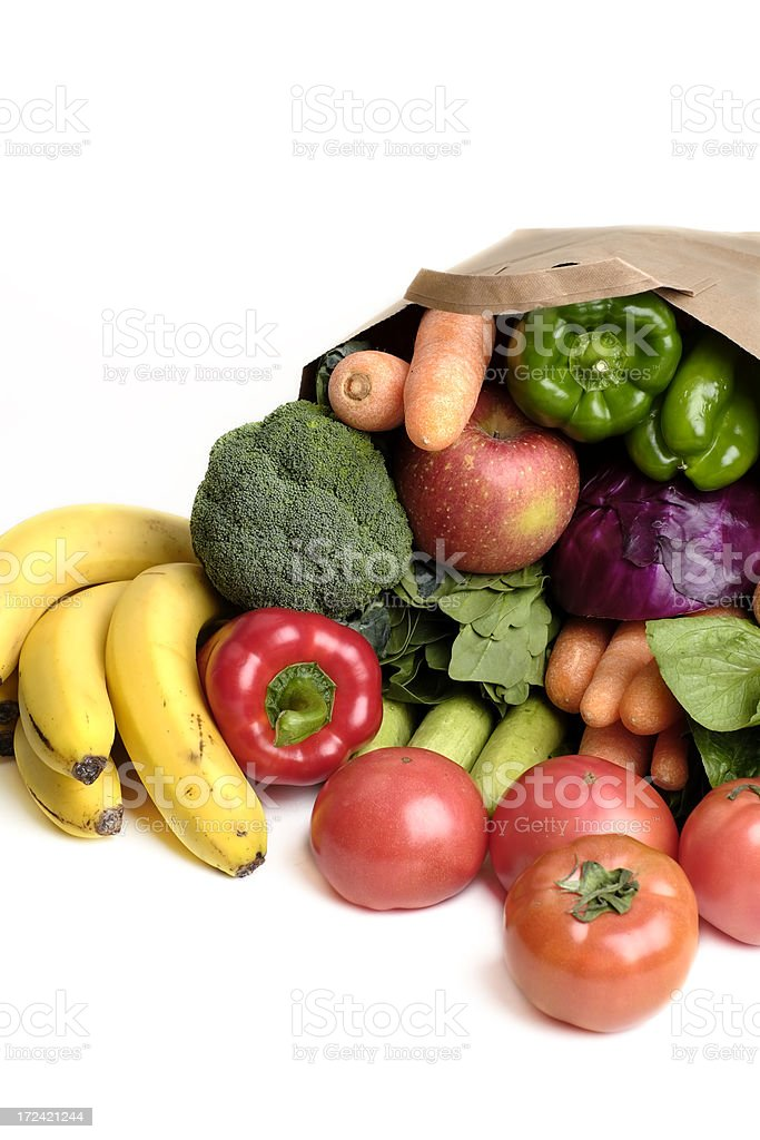 Fresh vegetables in a bag royalty-free stock photo