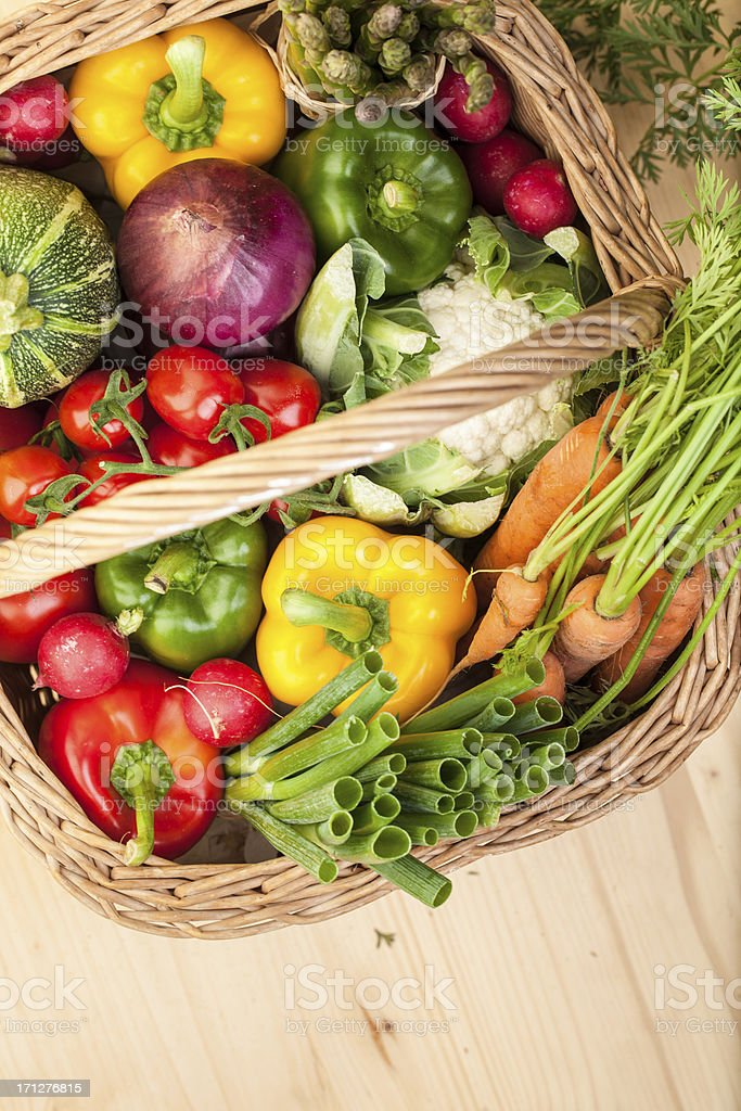 Fresh Vegetables: in a basket royalty-free stock photo