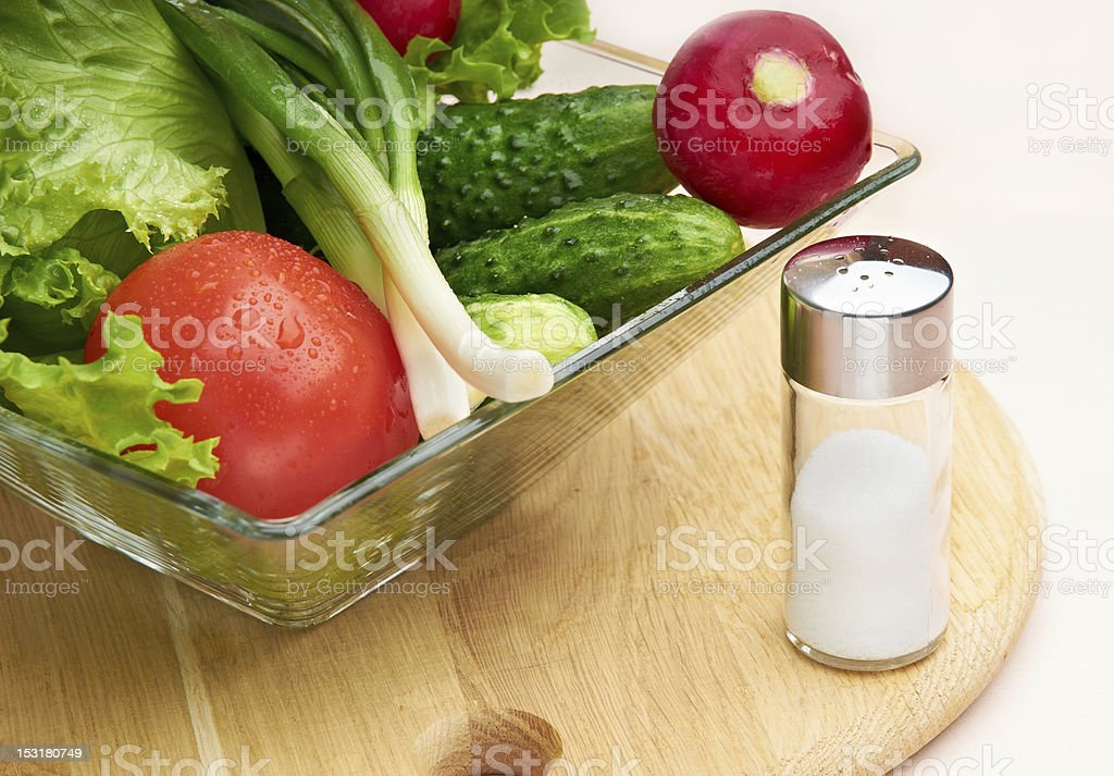 Fresh vegetables in a bowl stock photo