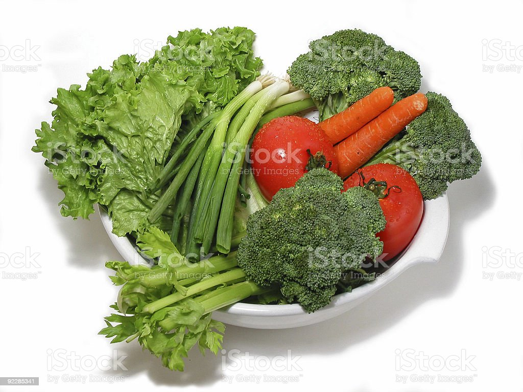 Fresh vegetables in a bowl royalty-free stock photo