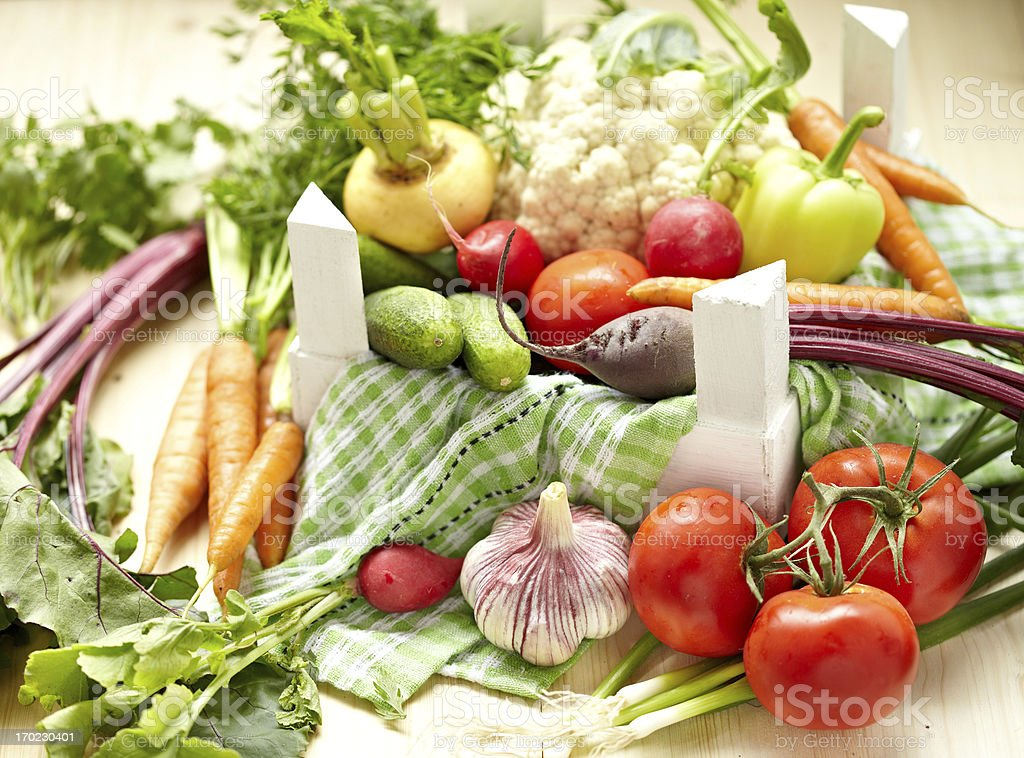 Fresh Vegetables in a Box royalty-free stock photo