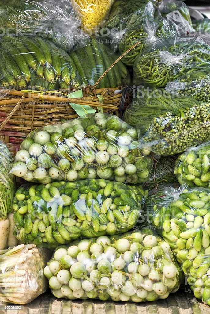 Fresh Vegetables in a market, bangkok. royalty-free stock photo