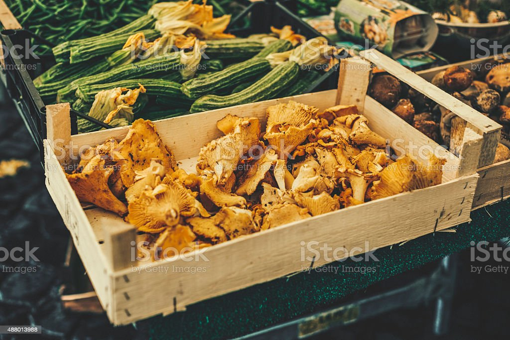 Fresh vegetables in a street market stock photo