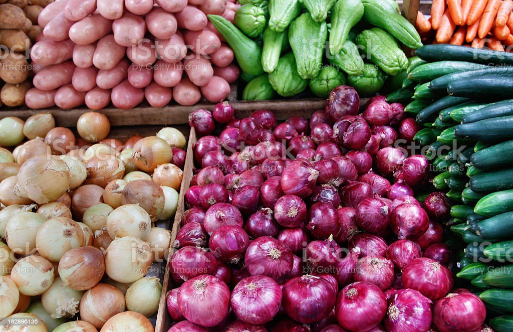 Fresh vegetables in a supermarket royalty-free stock photo