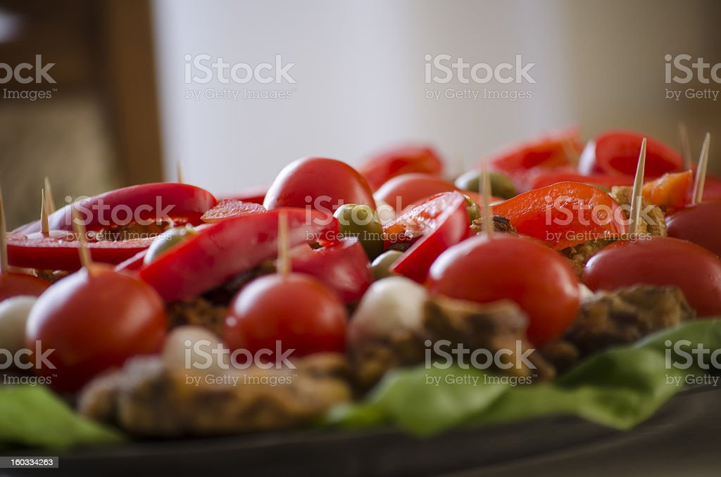 Fresh vegetables on a plate royalty-free stock photo