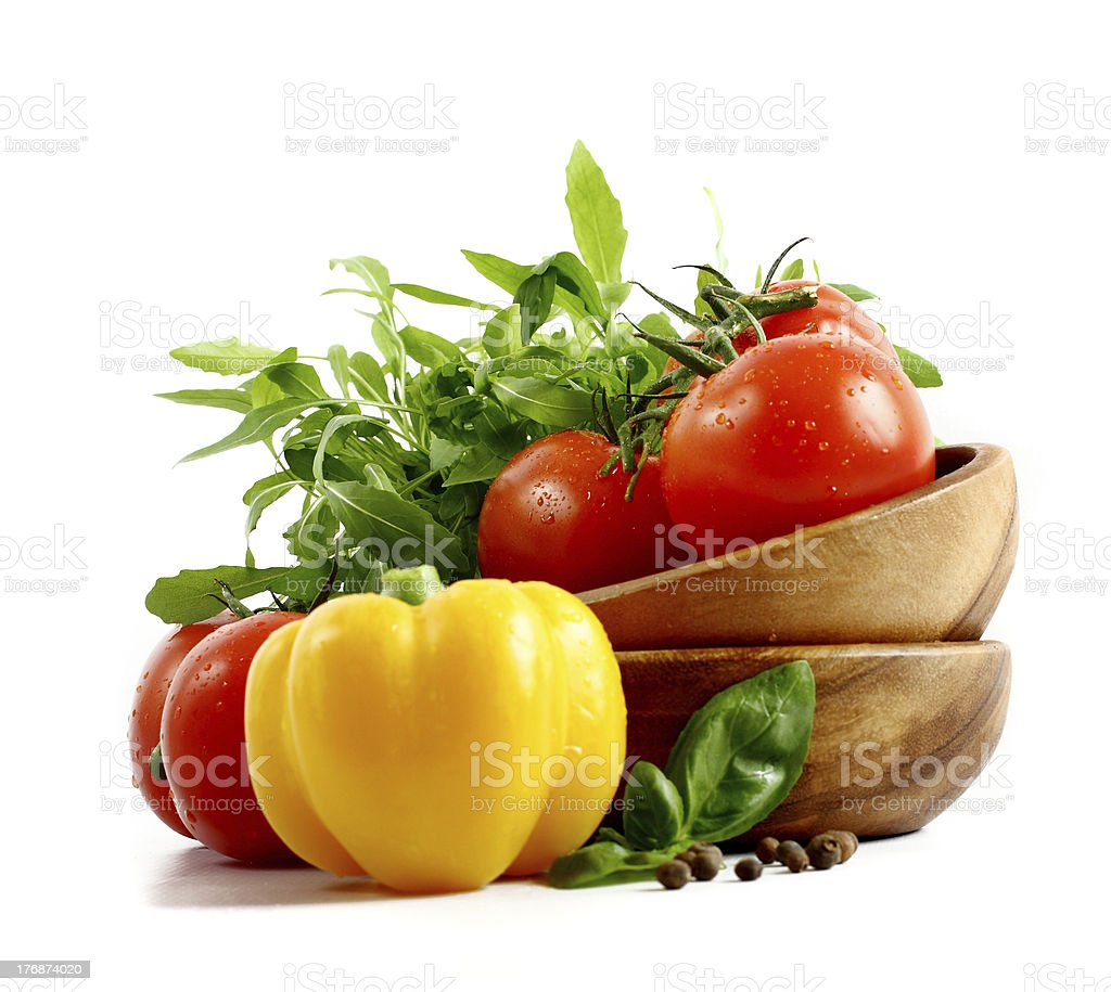 Fresh vegetables on white background royalty-free stock photo