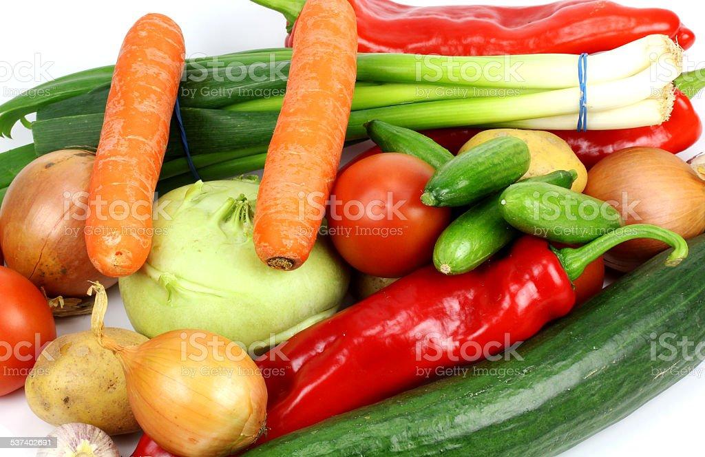 fresh vegetables on white background.. stock photo