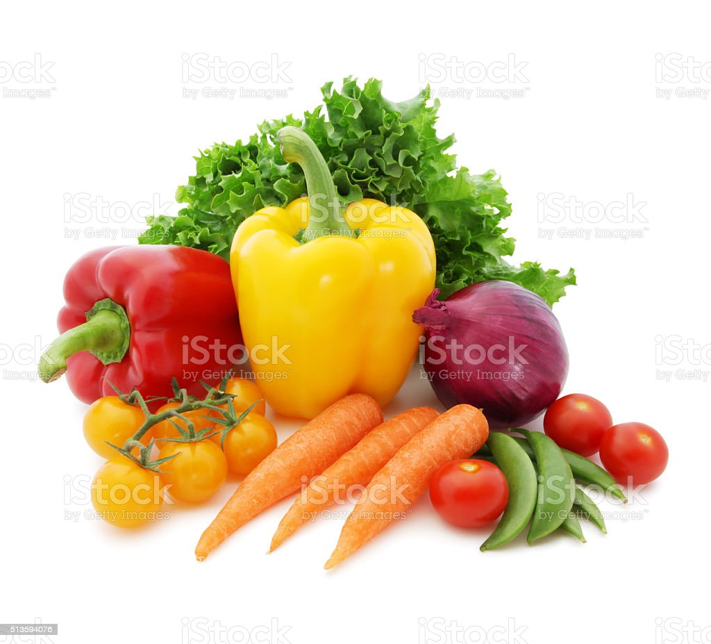 Fresh Vegetables (with path) stock photo