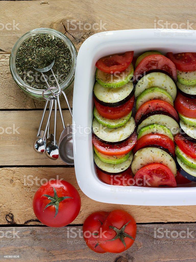 Fresca vegetables. ratatouille foto de stock libre de derechos