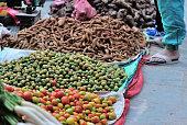 fresh vegetables selling at market
