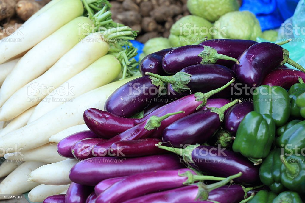 fresh vegetables selling at the street shop stock photo