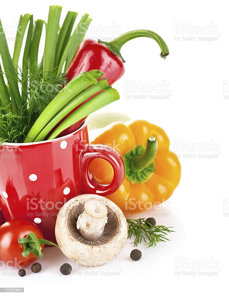 fresh vegetables with green leaves royalty-free stock photo